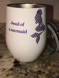 Soul of a Mermaid tumbler (left side)